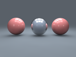 first cinema4d tryout - 3 balls studio lighting by thedevilhaswings