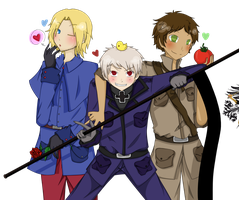 .: Bad Touch Trio :. HETALIA by ker-loey