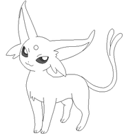 Espeon lineart 3 by michy123