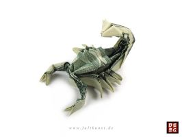 Dollar Bill Scorpion by Origamikuenstler