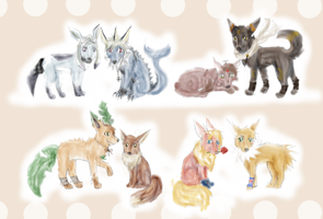 Hetalia Pokemon: eeveelutions by Talitah