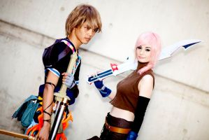 Noel and lightning cosplay by ZombieQueenAlly
