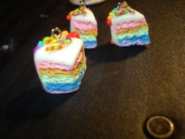 Rainbow Cloud Cake Charm by stariearth