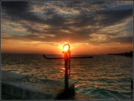 anchor to  sunset by renatoart