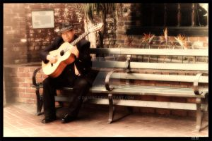 Old Man and Guitar by dxninc