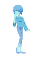 Casual Blue Pearl (Lineless) by MrChaseComix
