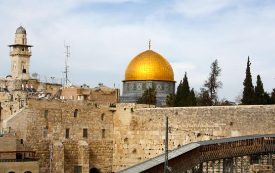 The Western Wall with Dome of the Rock by ahley