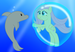 Dolphin to the rescue! by BladeDragoon7575