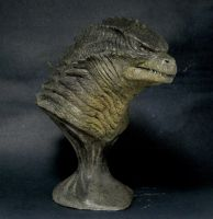 Godzilla 2014 statue sculpture by shin339