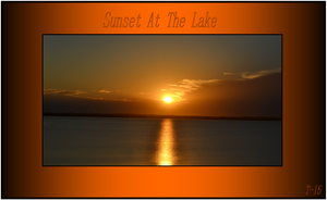 Sunset At The Lake! by Taures-15