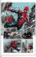 Spider-Man Page Colored by shubcthulhu