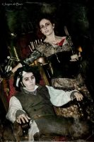 Sweeney Todd and Mrs Lovett  cosplay art by CaptJackSparrow123