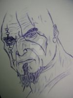 Kratos fast drawing by XM94