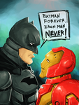 Batman vs Ironman by clc1997