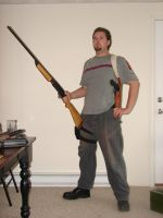 Dale with guns stock 12 by Tensen01