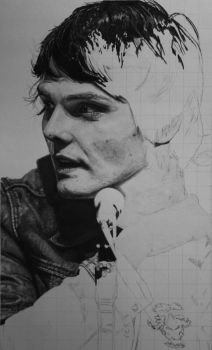 Gerard Way updated drawing by RTyson