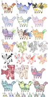 New and Old Adopts (9/30 OPEN) by Pastel-Adopt
