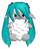 MMD-Miku Sheep DL by Shioku-990