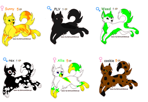 Wolf charcter adoptables by ghoststar321