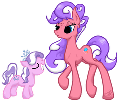 Like Mother Like Daughter [Commission] by EbonyTails