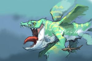The Leviathan or Whale Dragon by mattwatier