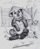 Tea with Panda by Frodo-Lion