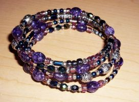 Glass Bead Bracelet by ladyashara