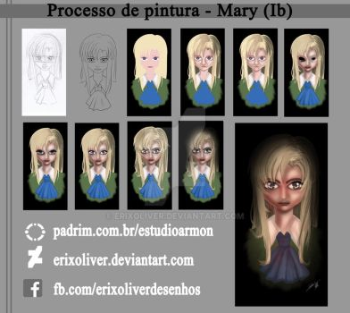Mary - Painting Process by ErixOliver
