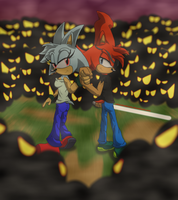 Slash and Crystal - Always Fighting Together by WhiteBlade-the-Zero