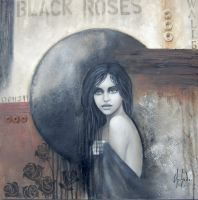 Black roses by Chehade-art
