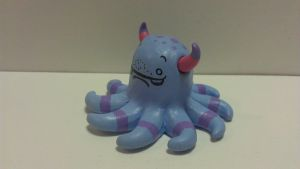 purple monster friend by ColleensCritters