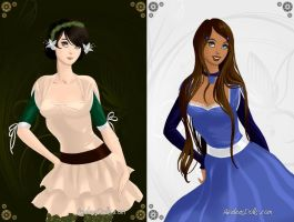 Katara and Toph by eeveelovestory5
