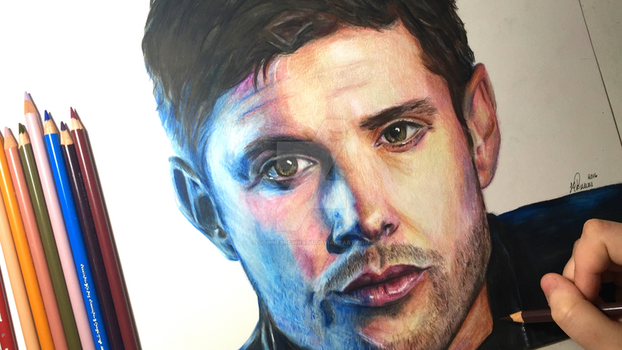 Jensen Ackles Drawing by sophiebrownart