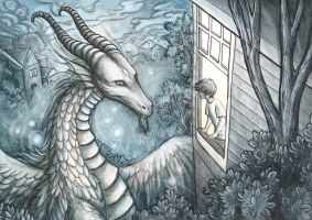 A Dragon at the Window by Evanira