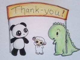 Dino and Panda Thank You 006 by MelodicInterval