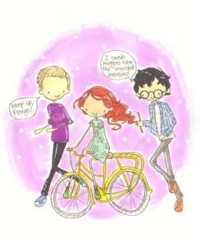 Wizards don't use bikes by Pinkie-Perfect