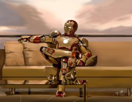Iron Man 3 - Mark 42 by fRancisChong