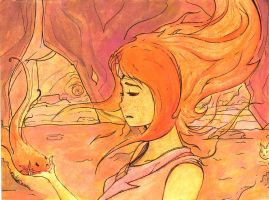The Fire Kingdom's Beauty: Flame Princess by izenhime