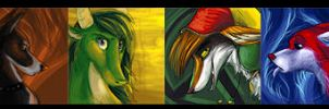 Painted Icons 1-7 by ZenirixWolf