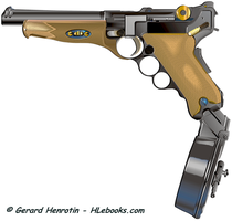 Luger full-auto with drum magazine - HLebooks.com by cungya