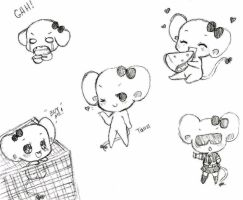 Tama Mouse Doodles by Tamochi-Chan