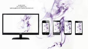 Purple Smoke Wallpaper bundle by badhon