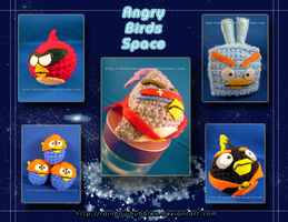 Angry Birds Space Amigurumi by Rainbowbubbles