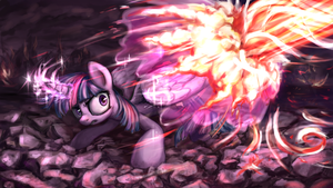 Twilight Sparkle vs Tirek by INowISeeI