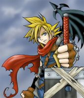 cloud strife ++ kingdom hearts by saorimaru