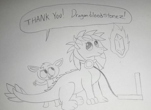 Thank You Dragonbloodstonez! by MrGelo97