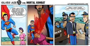 Silver Age DC vs Mortal Kombat by thechrishaley