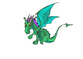 baby dragon by lindaatje