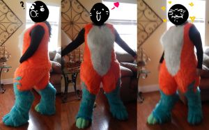 Narfox bodysuit WIP by AlieTheKitsune