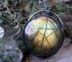 Labradorite Hidden Pentacle by MoonLitCreations